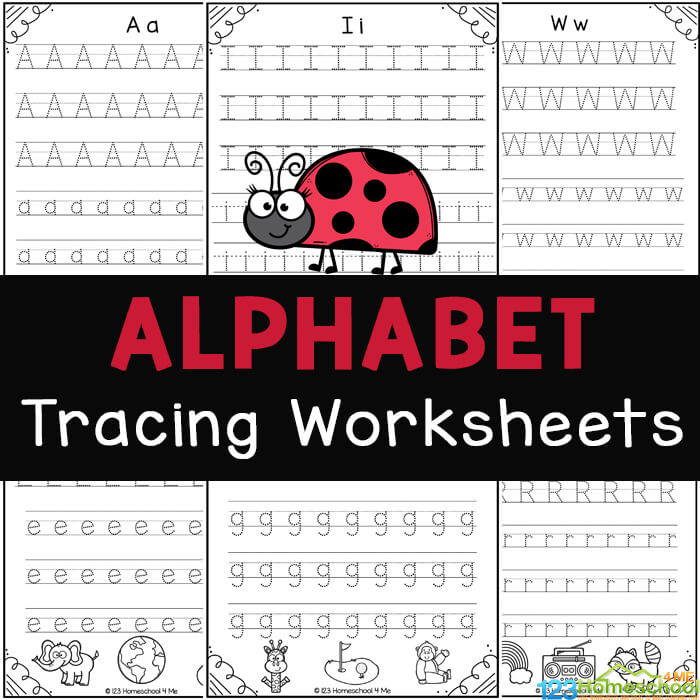 FREE Printable Alphabet Tracing Worksheets From A To Z