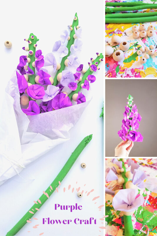 Make a lovely bouquet oftissue paper flowers to celebrate the arrival of spring or give the flower craft as a beautifulMothers day craft