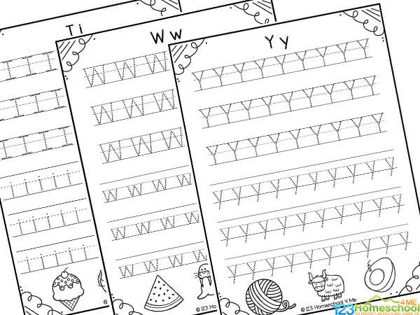 free printable preschool worksheets tracing letters