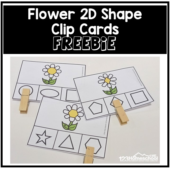 Cute flower printablesto work on a 2Dshape recognition! This shape activity for preschoolers is perfect for spring, flower themes.