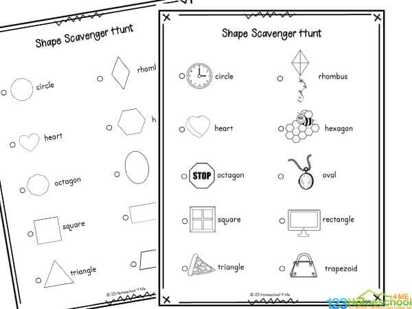 shape scavenger hunt preschool