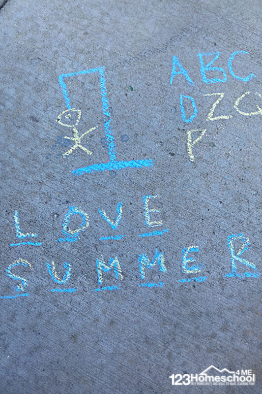 Outdoor chalk games