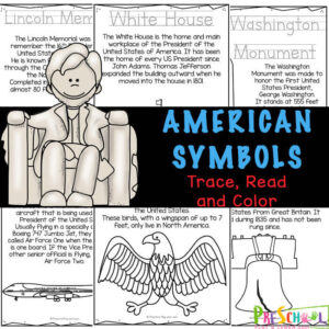 american symbols for kids printable reader