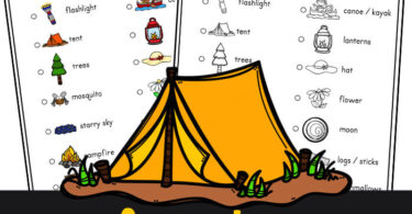 Explore the outdoors with this free printable, camping scavenger hunt for kids. This free printable scavenger hunt is perfect for summer.