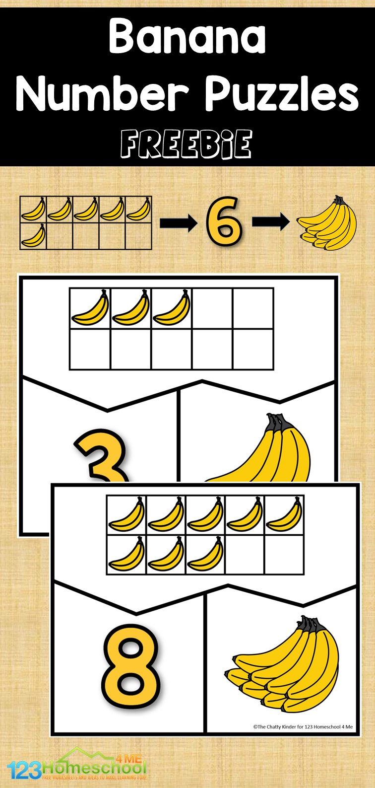 Looking for a fun activity to help your learners with number sense? Check out these fun banana themed number puzzles. Learners can practice their counting and subitizing skills while having some banana fun. Simply print number sense puzzles and you are ready to play and learn.