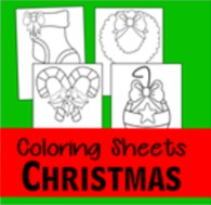 Christmas coloring pages thumbnail
