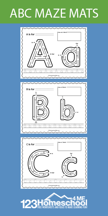 Make working on letter recognition FUN with these super cutealphabet mazes.Thesemazes printable worksheetsare perfect for preschool, pre-k, and kindergarten age chidlren who are learning their letters. Simply print pdf file withletter mazes and you are ready to play and learn!