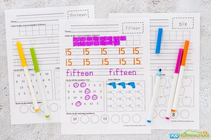 Writing Numbers Worksheet 1-20