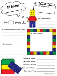 all about me worksheet
