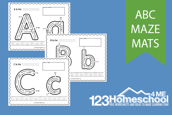 alphabet mazes to work on letter recognition and tracing upper and lowercase letters too