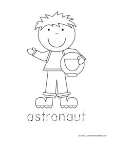 boy astronaut coloring page