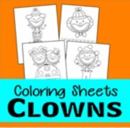 clown coloring pages thumbnail