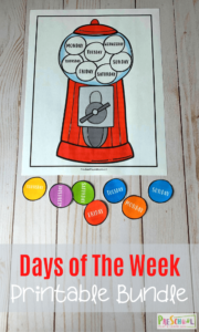 gumball days of the week printables activity