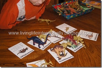 dinosaur matching activity