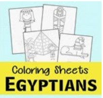 egyptian coloring pages thumbnail