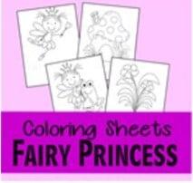 fairy princess coloring pages thumbnail