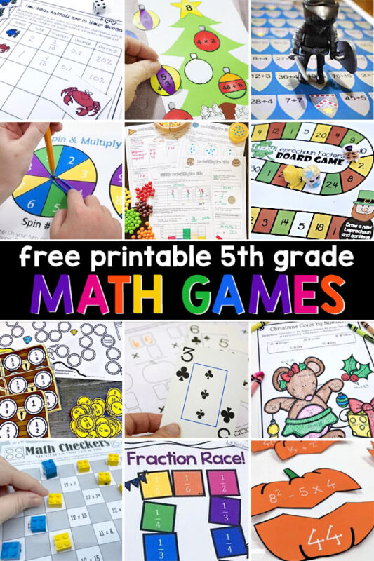 Some kids in fifth grade just want to plow through their work, but making math fun with creative math games will help them not only have fun, but they'll also remember what they've learned!Try one of these fun math printables to keep your fifth grader engaged and learning.