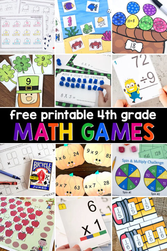 You'll find fun, free math games to practice everything your fourth grade student needs to reinforce their math learning. See all the resources below, arranged alphabetically, or take a peak at the 4th grade math worksheets page for a pictorial directory.