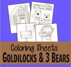 goldilocks and the three bears coloring pages thumbnail