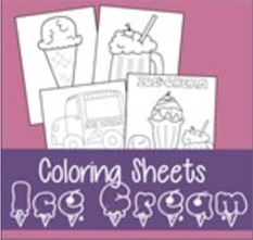 ice cream coloring pages thumbnail
