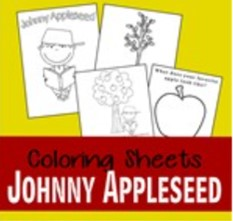 johnny appleseed coloring pages thumbnail