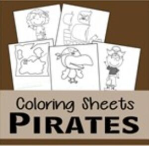 pirate coloring pages thumbnail