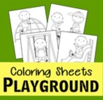 playground coloring pages thumbnail