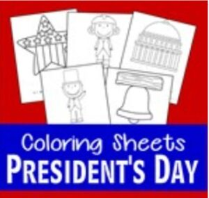 presidents day coloring pages thumbnail