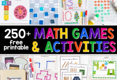 Make learning and practicing math fun for kids in Prek-6th grade with these FREE Math Games and Activities.SO MANY CLEVER IDEAS!
