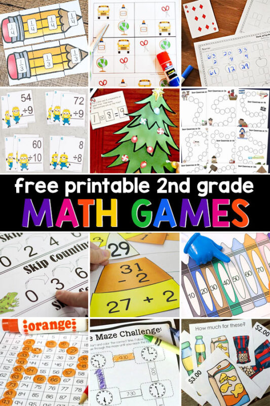 Second graders will have fun practicing adding, subtracting, counting coins, learning about place value, skip counting, and more, with our ever growing list of free math games! Just click on any topic or theme from our alphabetized list below. If you prefer to see picture thumbnails of our printable math games for grade 2, you can see them on our 2nd grade worksheets page.
