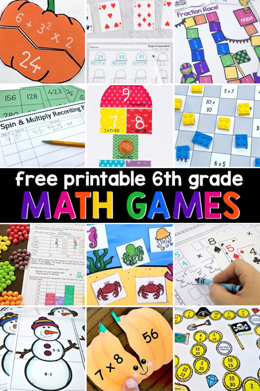 By now most of these facts should be second nature, but just in case your child needs some practice in any of their elementary math – here are some fun math games for you to help them gain fluency.