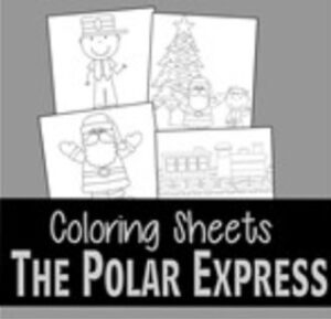 the polar express coloring pages thumbnail
