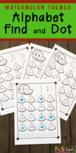 find the letter watermelon worksheets