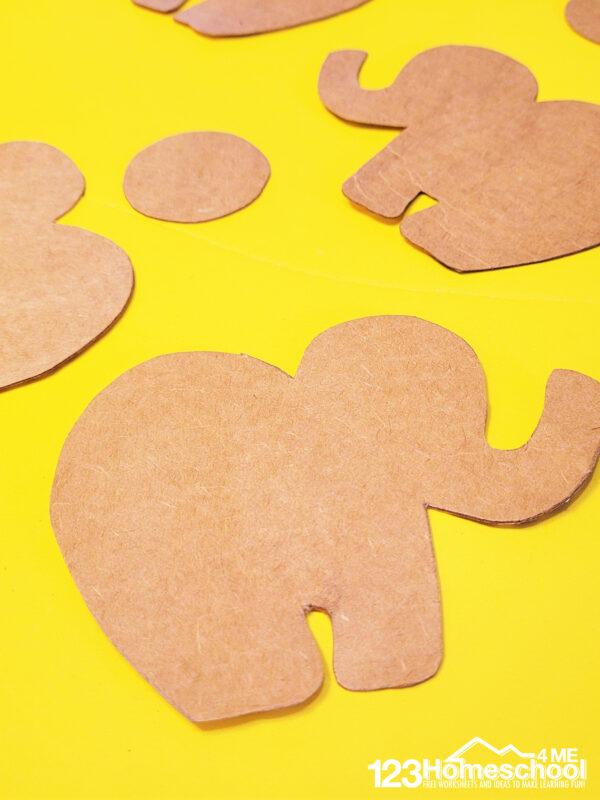 Elephant Printable template