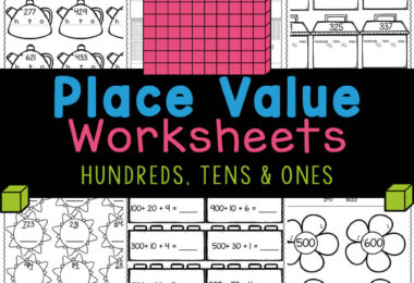 FREE hundreds tens and ones worksheets are handy, no-prep math activity to learn the concept. Print place value worksheets for 1st graders!