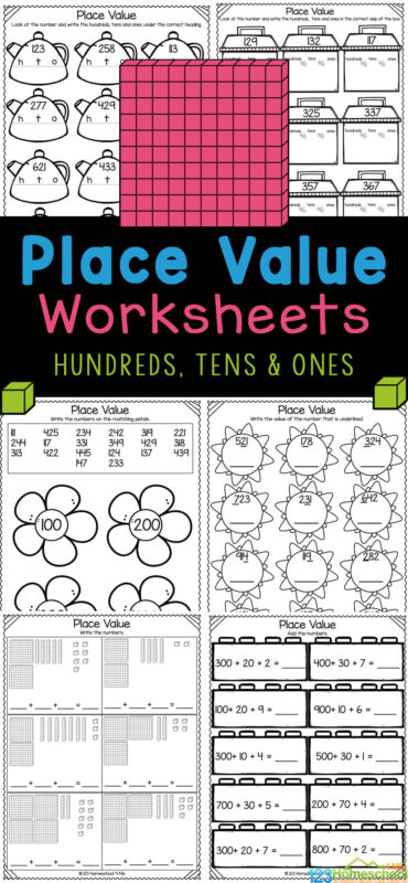 As children continue on in math they will encounter numbers with ones, tens, and hundreds place value. These free printable hundreds tens and ones worksheets are a handy, no prep math worksheets to reinforce this important concept for first grade and 2nd graders to understand. Using these hundreds tens and units worksheets allow children to reinforce this new skill. Simply printplace value worksheets for 1st graders and you are ready to play and learn!
