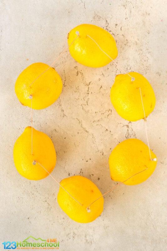 Lemon powered Light