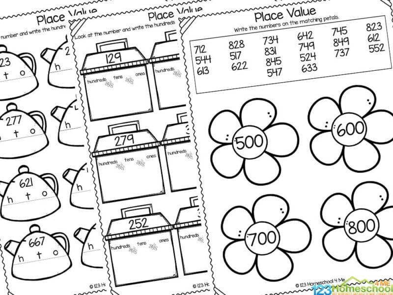 Place Value Worksheets for 1st Graders
