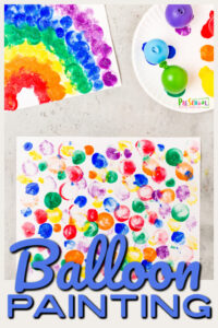 balloon painting art project for toddlers