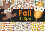 Fun Fall I Spy activity that uses free printable fall worksheets. Great way to work on counting as you play and learn!