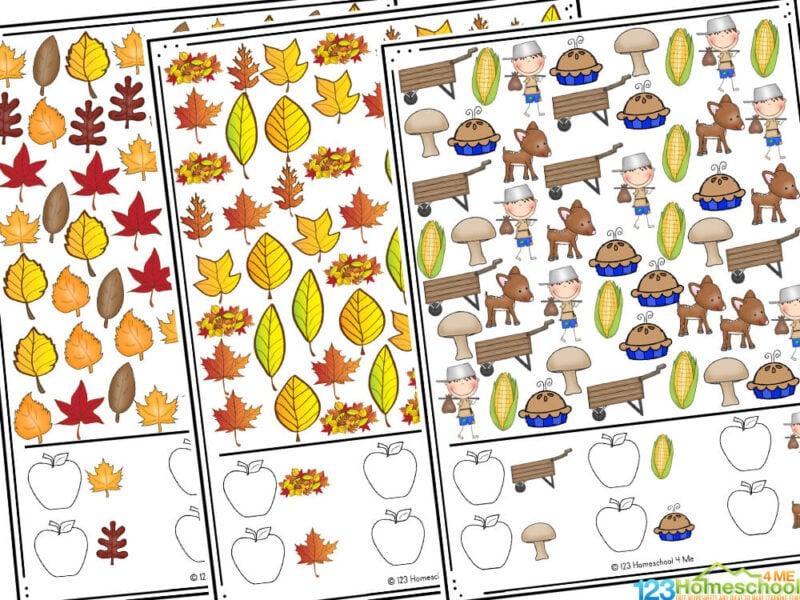 fall worksheets for preschool