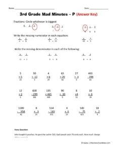 free printable 3rd grade math worskheets