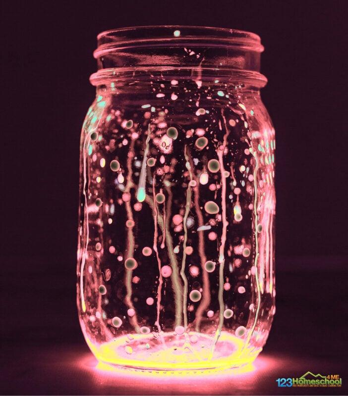 glow in the dark lightening bug craft