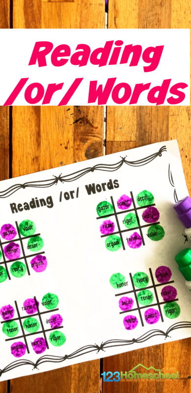 Help kids practicephonics or words with this fun, hands-onphonics games for 1st grade. In this tic-tac-toe game, kindergarten and first grader will practice readingor words to improve phonics skills. Simply print the r-controlled vowelprintable activity and you are ready to play and learn!