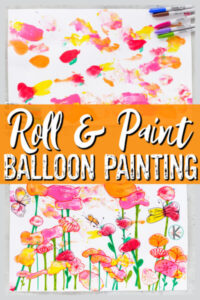 paint and roll summer balloon painting activity for kids