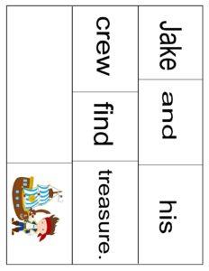 pirate building sentences