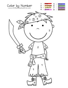 pirate color by number worksheet