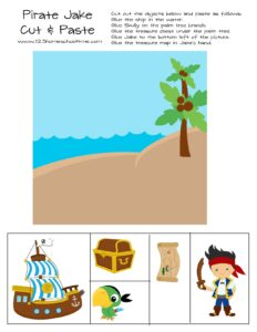 pirate cut and paste worksheet