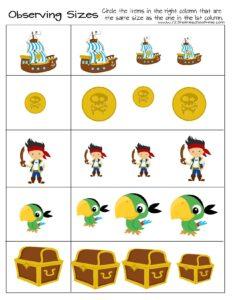 pirate size discrimination