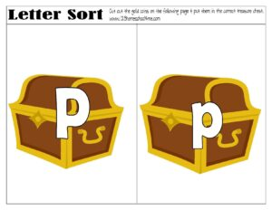 pirate treasure sorting upper and lowercase letters